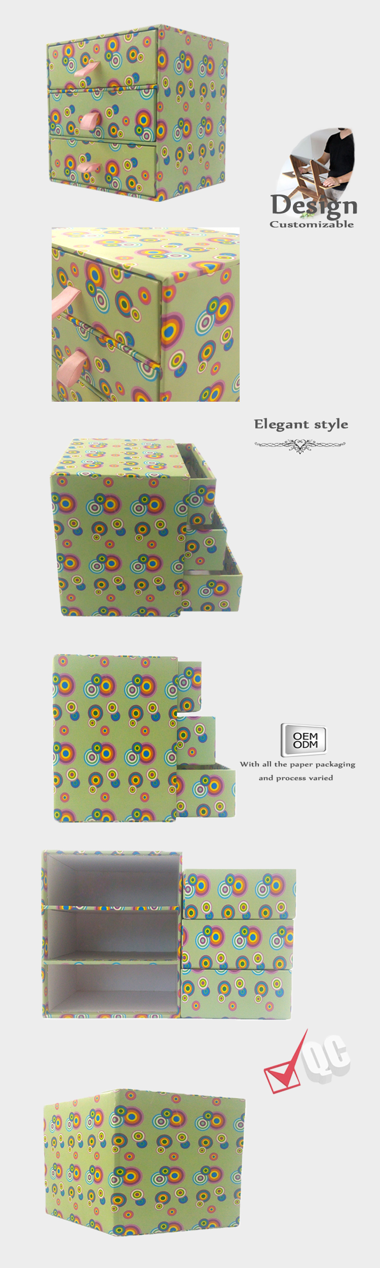 Round types gift packaging box