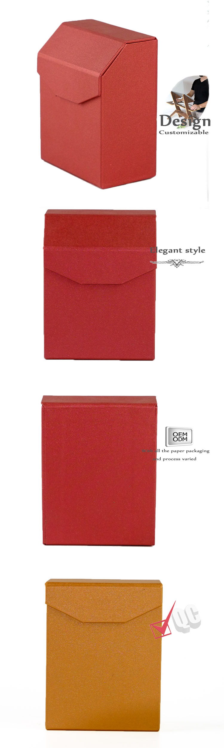 Magnetic irregular packaging box