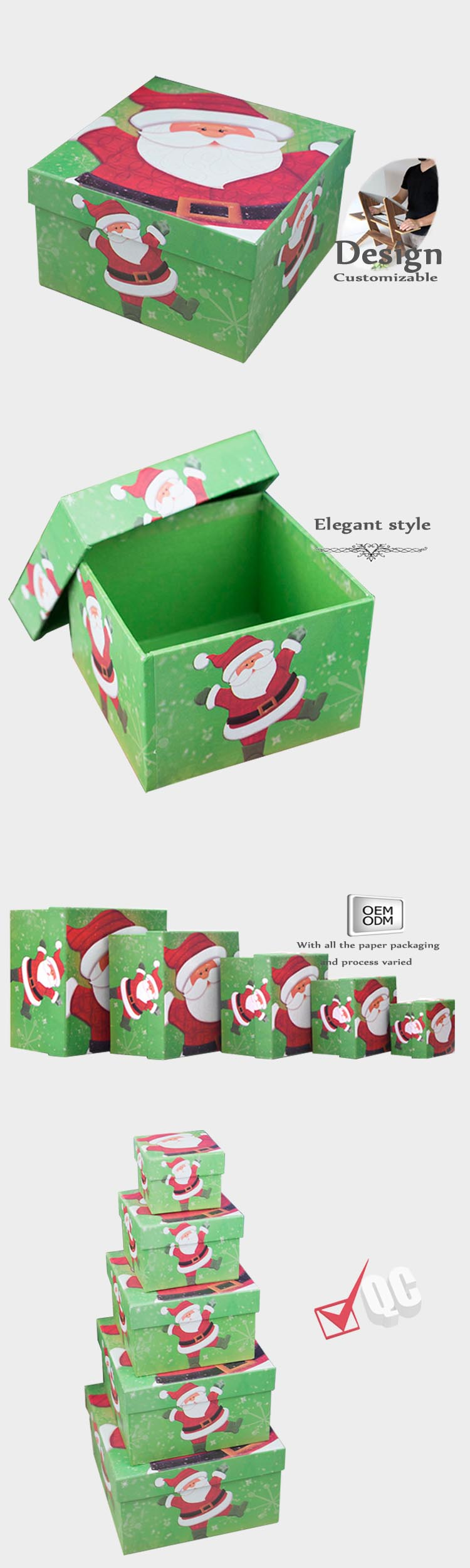 Christmas gift boxes with lid
