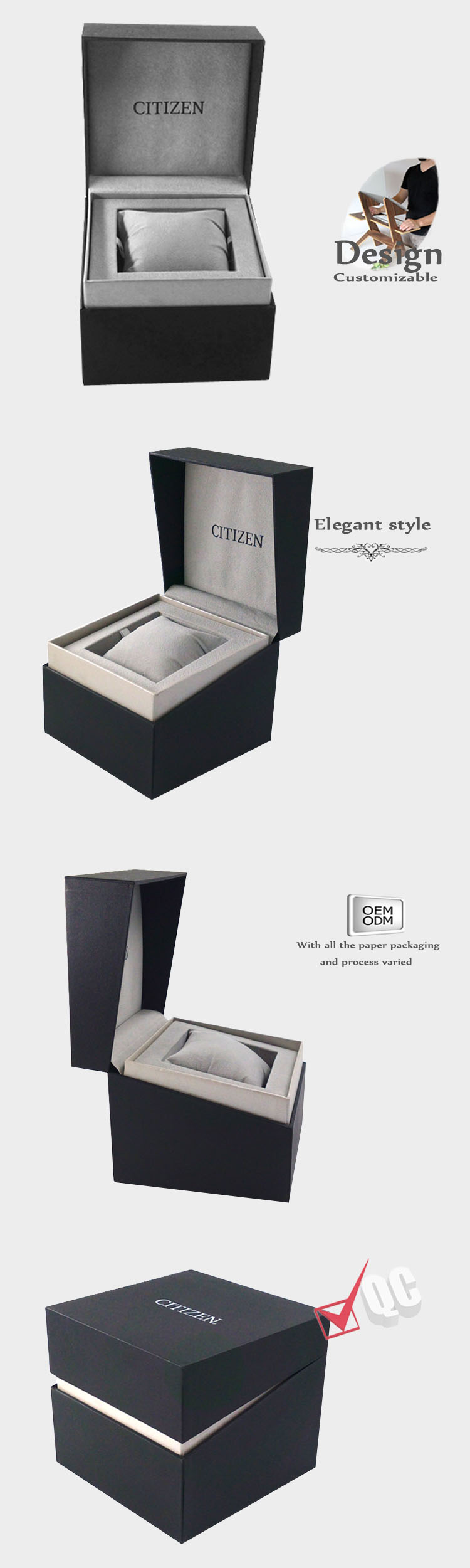 man watch box