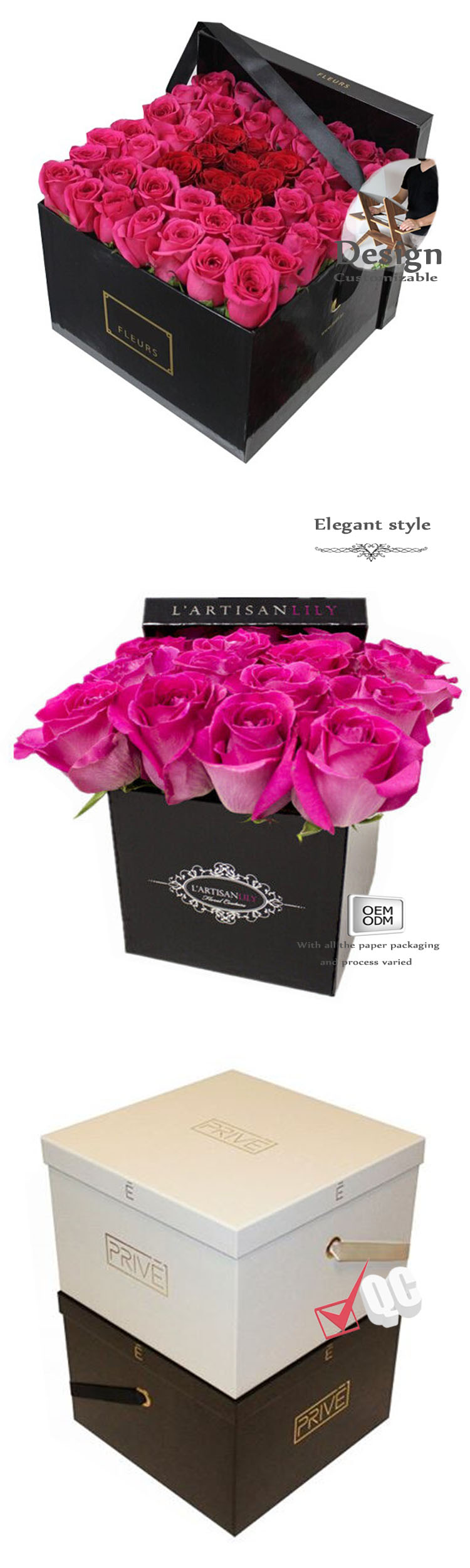 Square flower gift boxes