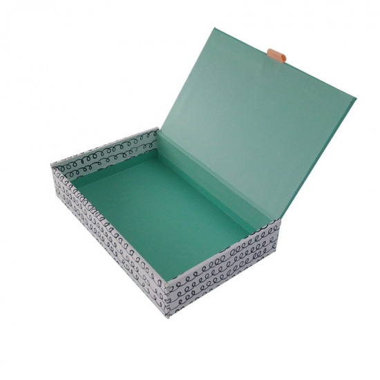 Clamshell gift paperboard boxes