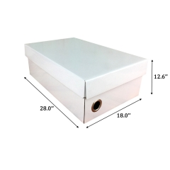Custom shoe box packaging