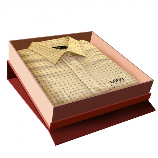 Clothing shirt packaging box